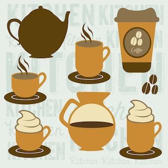 Icônes de café