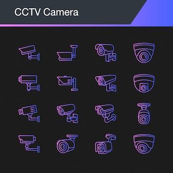 Icônes de caméra cctv.