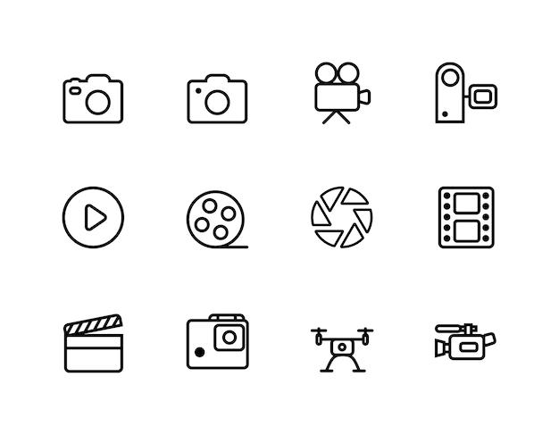 Icônes de caméra et film