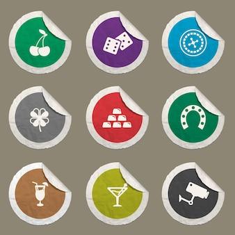 Icônes de casino définies pour les sites web et l'interface utilisateur