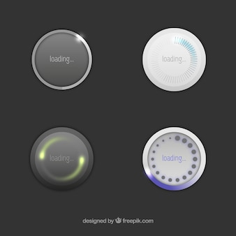 Icônes de chargement rondes