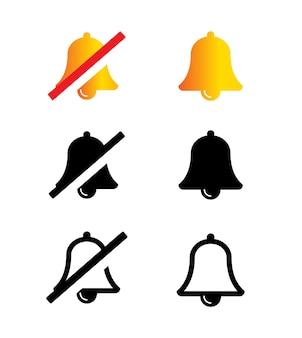 Icônes de cloche simple illustration vectorielle
