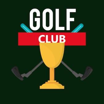Icônes de club de golf liées image