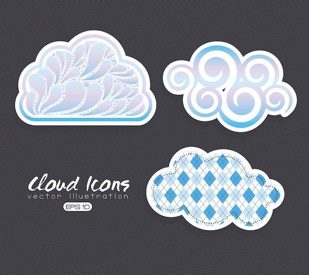 Icônes cluods