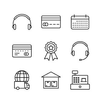 Icônes de commerce électronique à usage personnel et commercial