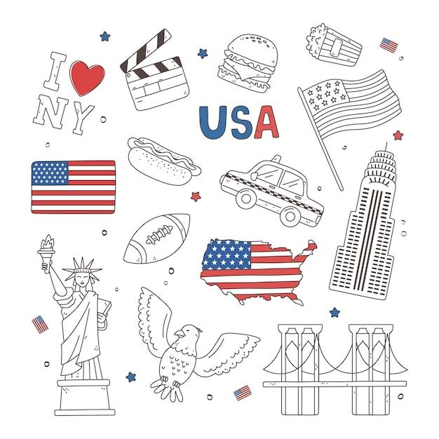 Icônes de composition des états-unis