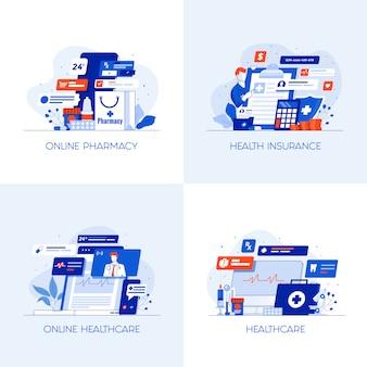 Icônes conceptuelles plates