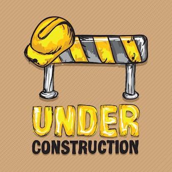 Icônes de construction (panneau de signalisation en bouchon dur)