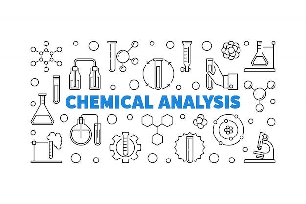Icônes de contour d'analyse chimique