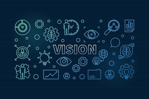 Icônes de contour concept vision