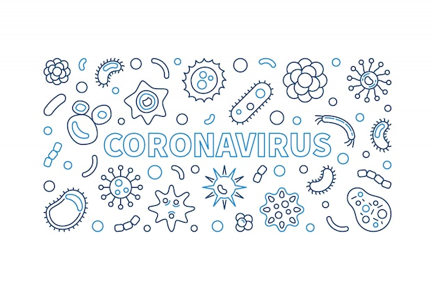 Icônes de contour de coronavirus