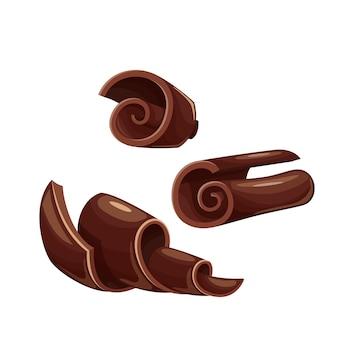 Icônes de copeaux de chocolat