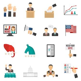 Icônes de couleur d'élection