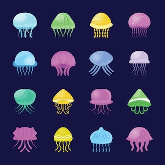 Icônes de créature marine