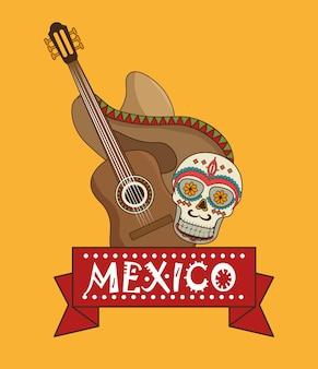Icônes cuisine design mexicain