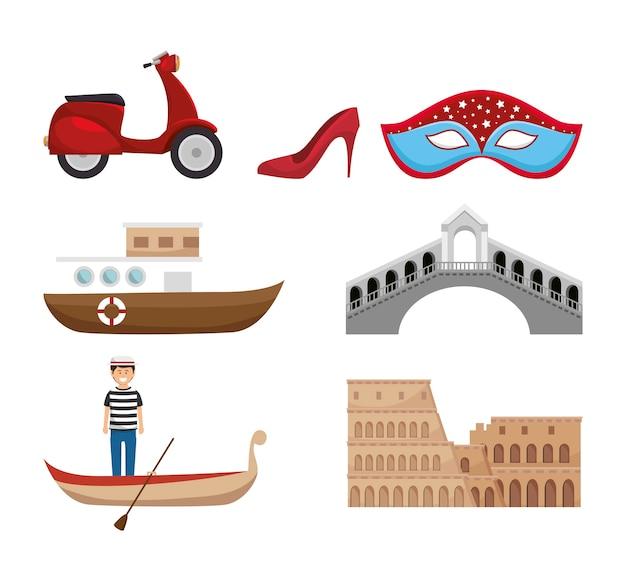 Icônes de la culture de l'italie