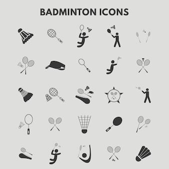 Icônes de badminton