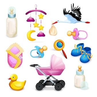 Icônes de douche de bébé