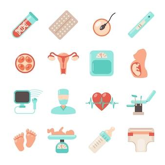 Icônes de nouveau-né de grossesse