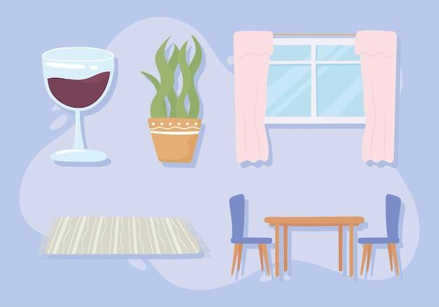 Icônes de décoration à la maison