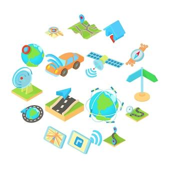 Icônes définies dans un style 3d isométrique. set collection illustration
