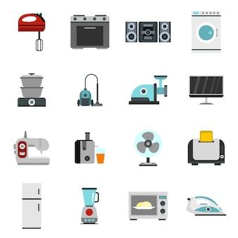 Icônes définies dans un style plat.