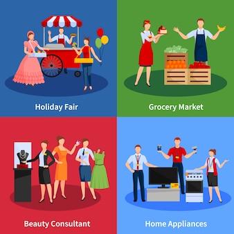 Icônes définies avec des fournisseurs de services