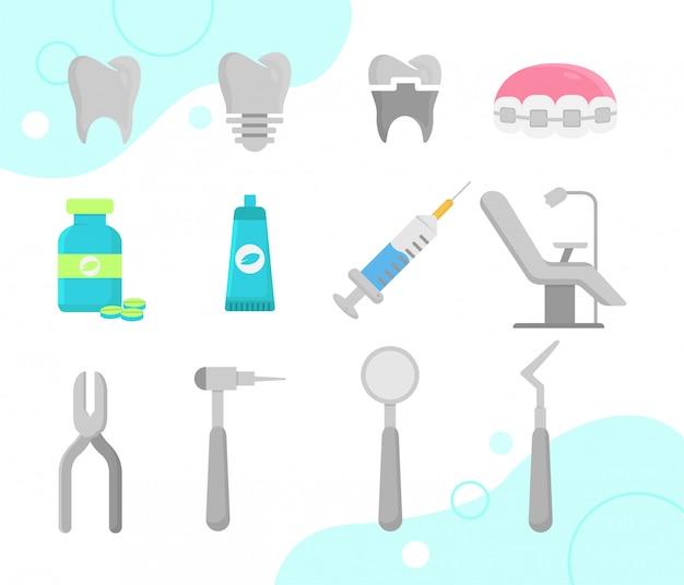 Icônes de dentiste