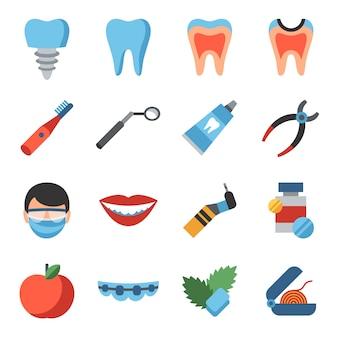 Icônes de la dentisterie et de la santé