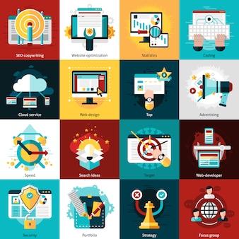 Icônes de développement seo