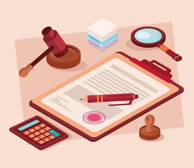 Icônes de document et juridiques
