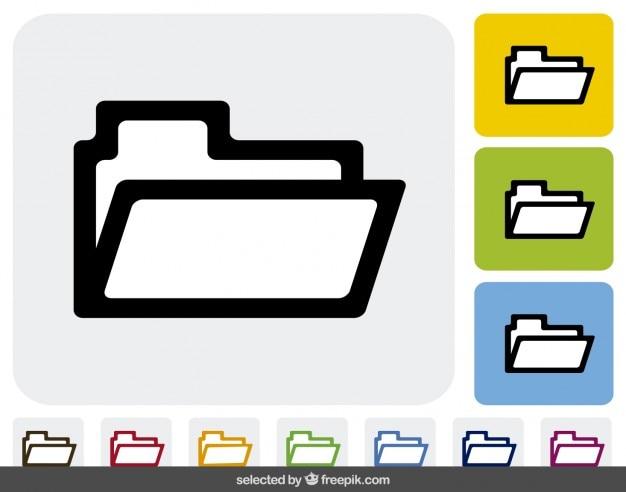 Les icônes de dossier dans différentes couleurs
