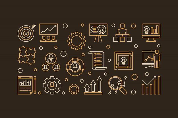 Icônes du processus de planification stratégique