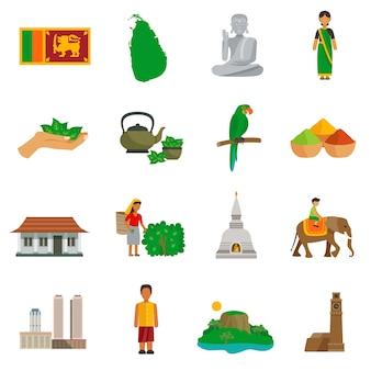 Icônes du sri lanka
