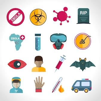 Icônes du virus ebola