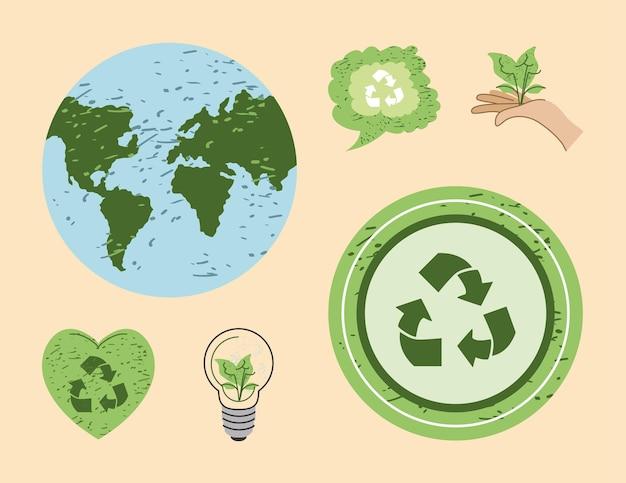 Icônes écologiques de l'environnement