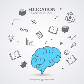 Icônes d'éducation dessinés à la main