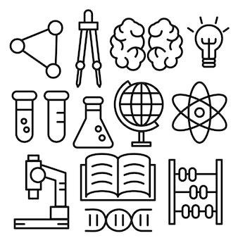 Icônes de l'éducation.