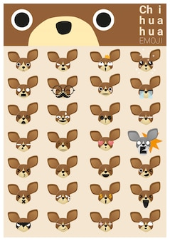 Icônes emoji chihuahua