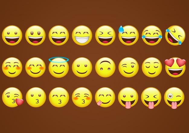 Icônes d'émoticônes