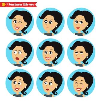 Icônes d'émotions du visage