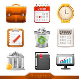 Icônes d'entreprises définies illustration