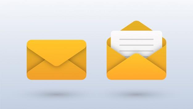 Icônes d'enveloppe de courrier