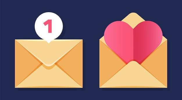 Icônes d'enveloppes