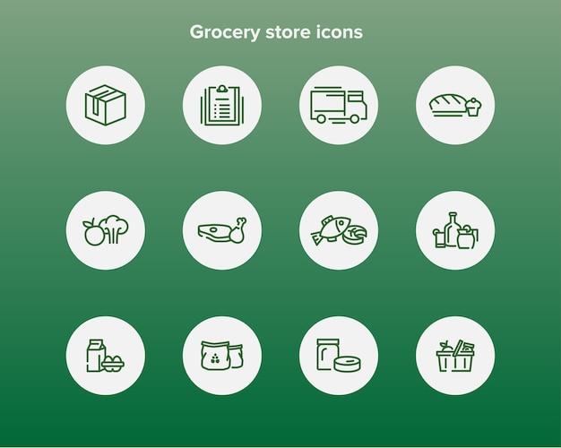 Icônes d'épicerie