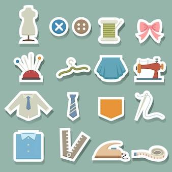 Icônes d'équipement de couture