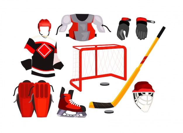 Icônes d'équipement de hockey