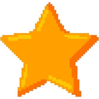 Icônes étoiles pixel isolés sur fond blanc.