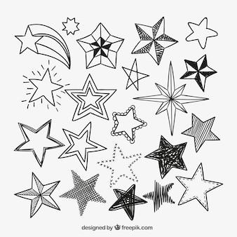 Icônes étoiles sketchy