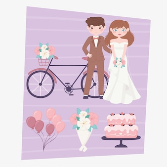 Icônes d'événement de mariage